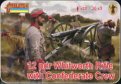 72183ST Фигуры 12 pdr Whitworth Rifle with Confederate Crew 1/72 Strelets, 1/72