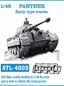 ATL-48-09 Металлические траки PANTHER Early type tracks 1/48