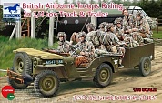 CB35169  British Airborne Troops Riding in 1/4 ton Truck and Trailer