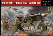 72M112ST Фигуры WWII US Navy & Anti-aircraft MG 1/72