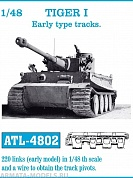 ATL-48-02 Металлические траки TIGER I Early type tracks 1/48