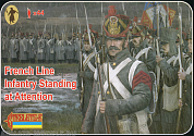 72184ST Фигуры French Line Infantry Standing at Attention 1/72 Strelets, 1/72