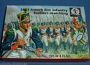 AP061 1815 French Line Infantry Fusiliers Marching